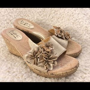 NWOB Born Concept leather wedge sandals size 8